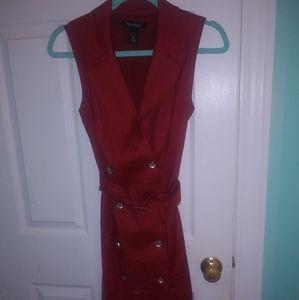 Black house white market Red button dress size 6